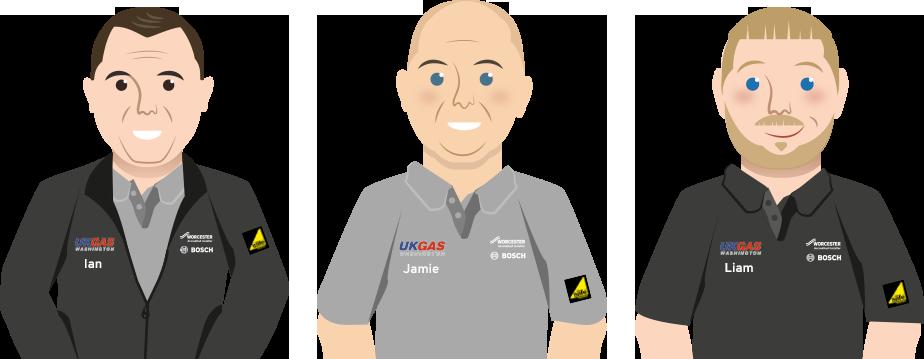 Ian, Jamie & Liam from UK Gas Washington