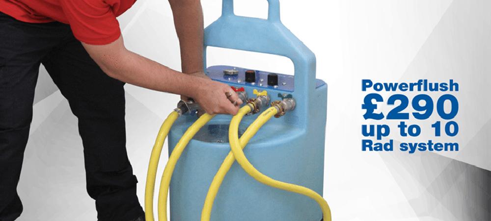 UK Gas Washington power flush up to ten radiator system